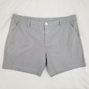 """Chubbies Gray Classic Shorts Flat Front 7"""" 36"""